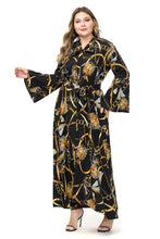 Load image into Gallery viewer, Estylo Chain Print Flare Collar Maxi