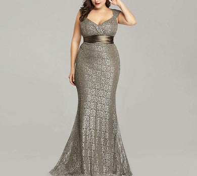 Elegant Mermaid Vintage Party Gown
