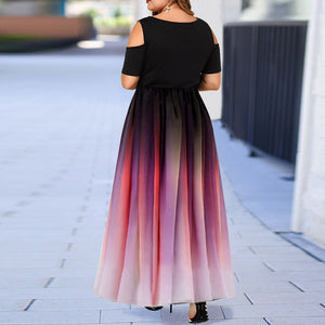 New Two Shades Off-Shoulder Dress