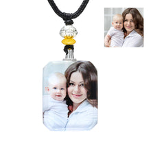 Load image into Gallery viewer, Personalized Photo Crystal Pendant