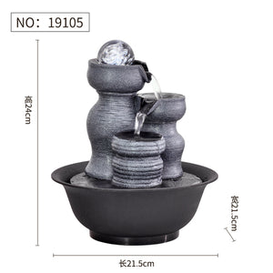 Resin Decorative Fountains Indoor Water Fountains