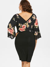 Load image into Gallery viewer, Estylo Floral Plunging Neck Dress
