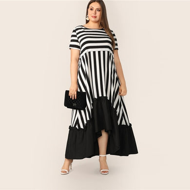 Glamorous Low Hem Stripe Dress 2019