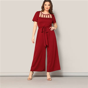 Oliva-Elegant Hollowed Out Jumpsuit