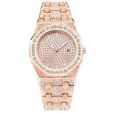Load image into Gallery viewer, Unisex Jumbo Fully Iced Out Quartz Watch