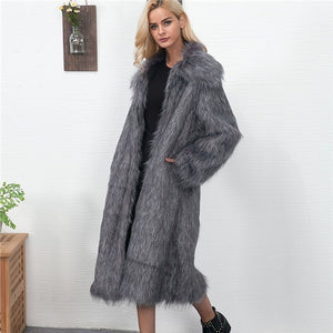 Estylo Winter Warm New Fashion Long Furr Coat