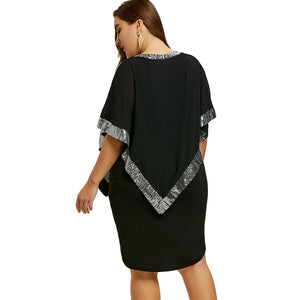 Sequined Capelet Party Dress
