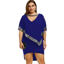 Load image into Gallery viewer, Sequined Capelet Party Dress