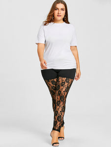 Lace Sheer High Quality Leggings