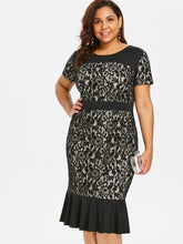 Load image into Gallery viewer, New Evergreen O-Neck Lace Panel Midi