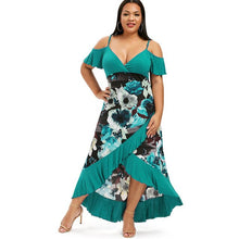 Load image into Gallery viewer, Estylo Summer Fashion Wrap Ruffle Dress