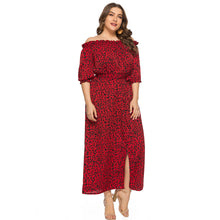 Load image into Gallery viewer, ESTYLO Plus Size Off Shoulder Boho Belted Dress