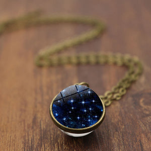 3D UNIVERSE STAR GALAXY Necklace Women
