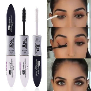 2 IN 1 Black Mascara Waterproof Long Lasting