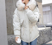 Load image into Gallery viewer, Hooded Winter Cotton Jacket