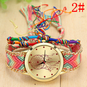 Leather Dreamcatcher Friendship Watch