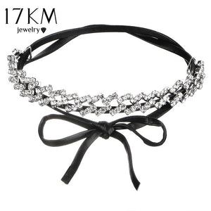 2019 Bow Pendant Leather Choker High Quality