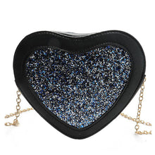 Load image into Gallery viewer, Leather Shoulder Bag Heart Shaped