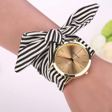 Fabric Strap Casual Bracelet Wrist Watch