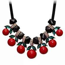 Load image into Gallery viewer, Black n Red Cheery Choker