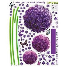 Load image into Gallery viewer, 2018 wall sticker poster Mural Lovely Purple Dandelion diy art