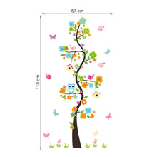 Load image into Gallery viewer, Garden Flower Tree Branches Owl Wall Art