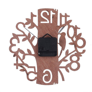 Creative Tree Shaped Wooden Wall Clock