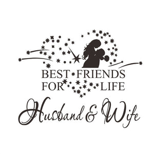 Husband and Wife Wall Art Sticker
