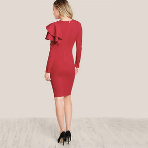 Slim Fit Red Cocktail/Party Dress