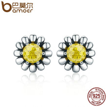 Load image into Gallery viewer, 100% Genuine 925 Sterling Silver Yellow Daisy Flower Ring