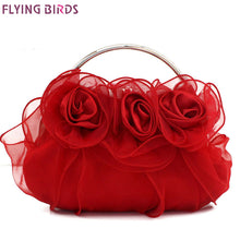 Load image into Gallery viewer, FLYING BIRDS! Silk Flower Handbag