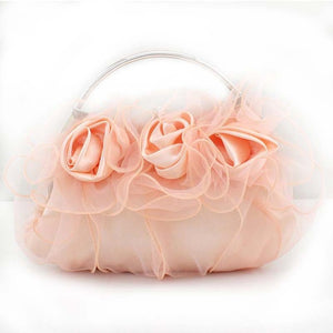 FLYING BIRDS! Silk Flower Handbag