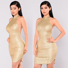 Load image into Gallery viewer, Bling Glitter Slim Fit Dress