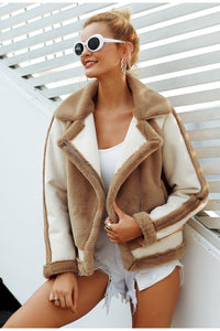 Elegant faux fur coat 2019