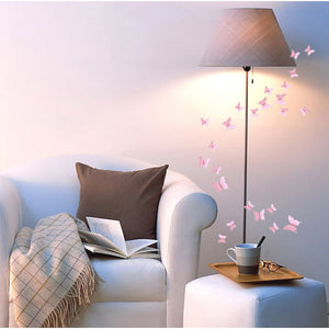 12 pc 3D Trendy Butterfly Wall Stickers