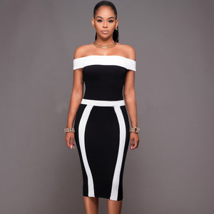 Women Bandage Bodycon Evening Dress