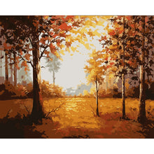 Load image into Gallery viewer, Autumn  Forest Landscape DIY Painting