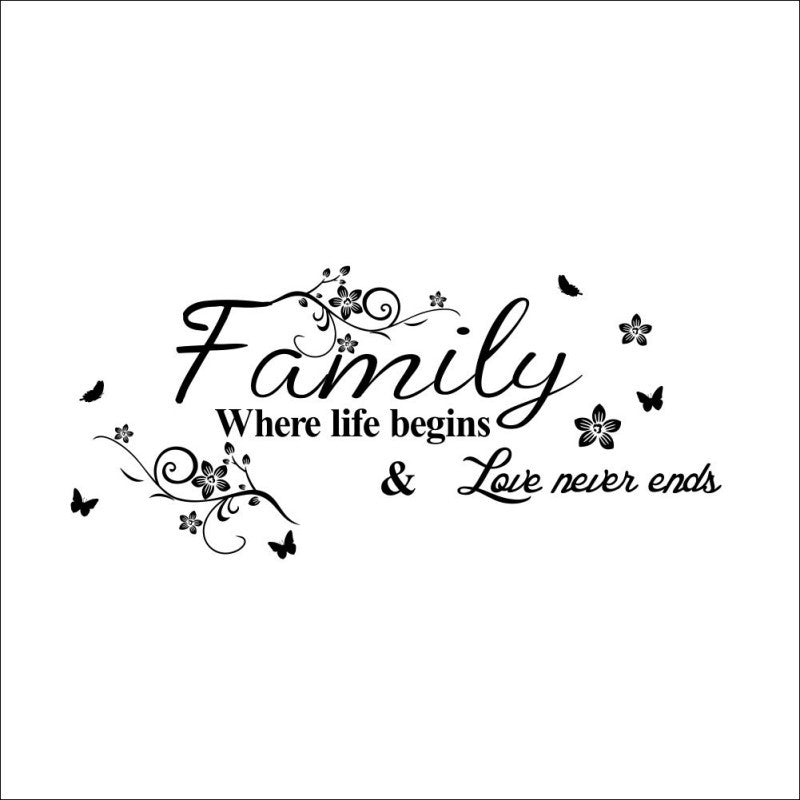 Family New High Quality Wall Stickers DIY Art Sticker