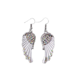 A Pair Of Angel Wings Diamond Earrings