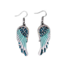 Load image into Gallery viewer, A Pair Of Angel Wings Diamond Earrings