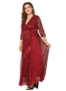 Red Elegant Party Wear
