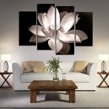 Load image into Gallery viewer, HD Printed 4-Panel Lotus Pattern Canvas Painting