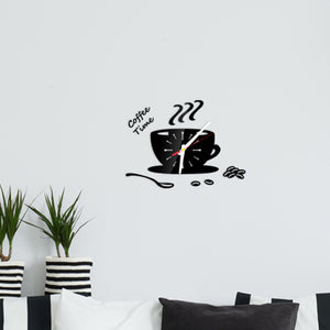 3D Mirror Wall Sticker Decorative Clock
