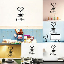 Load image into Gallery viewer, Coffee Cup Decals Removable Vinyl Wall Sticker