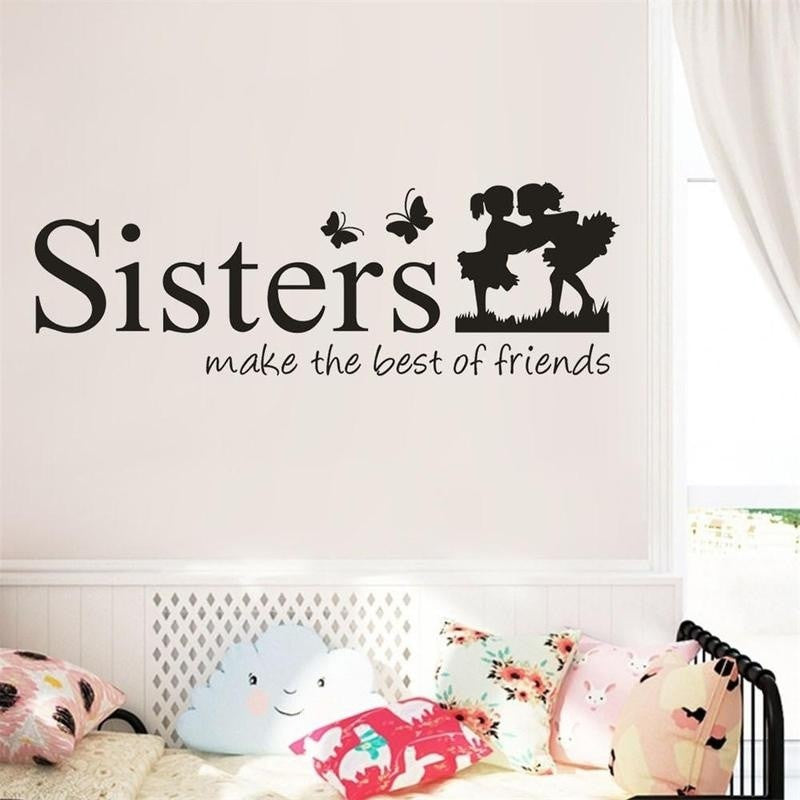 Sisters Wake The Best OF Friends PVC Wall Sticker Home Decor DIY Art Sticker