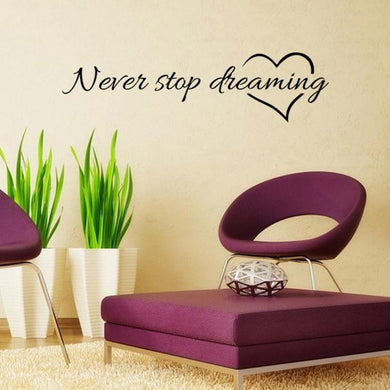 Never Stop Dreaming Quote
