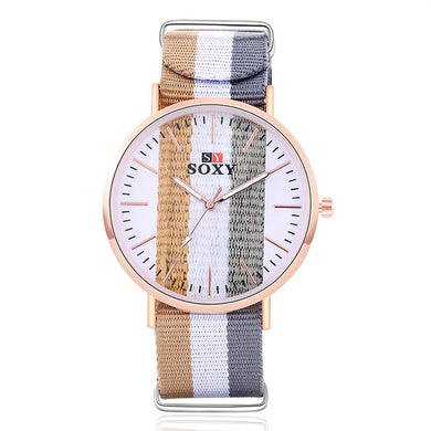 Canvas Strap Band Wrist Watch