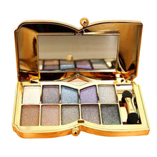 Load image into Gallery viewer, 10 Colors Flash Glitter Eyeshadow Palette With Brush & Mirror