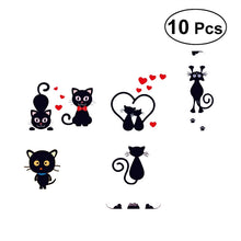 Load image into Gallery viewer, 10pcs Cartoon Cute Cat Switch Sticker Switch Decor Decals