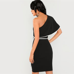 Elegant Party One Shoulder Dress